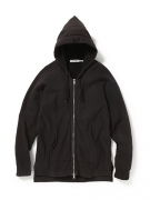 DWELLER HOODED FULL ZIP COTTON SWEAT