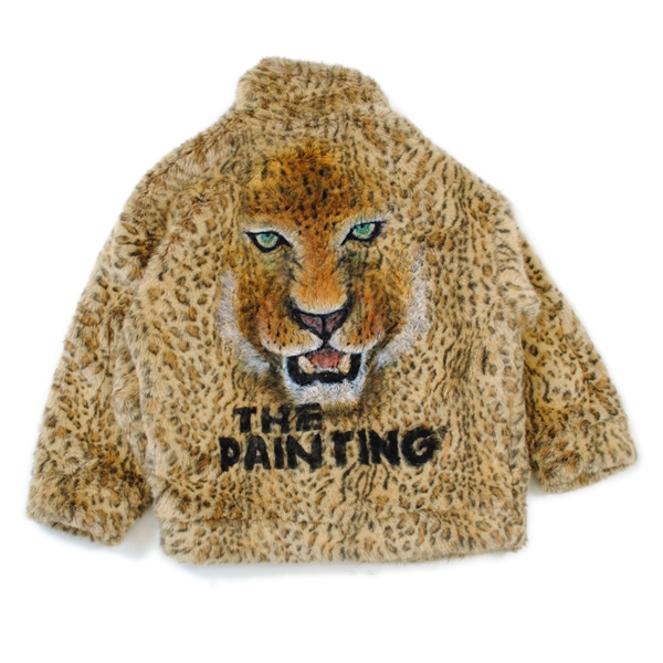 ANIMAL HAND-PRINTED FUR JACKET