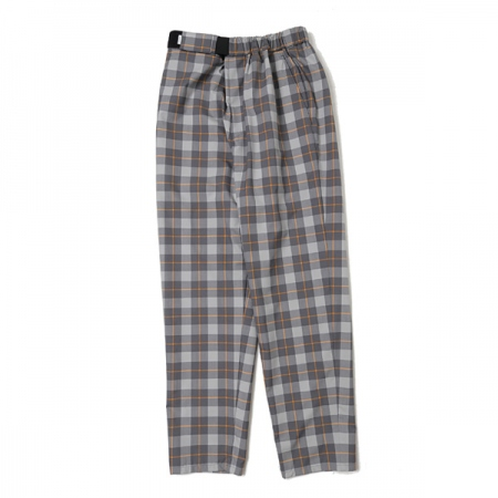 Fine Wool Check Slim Chef Pants