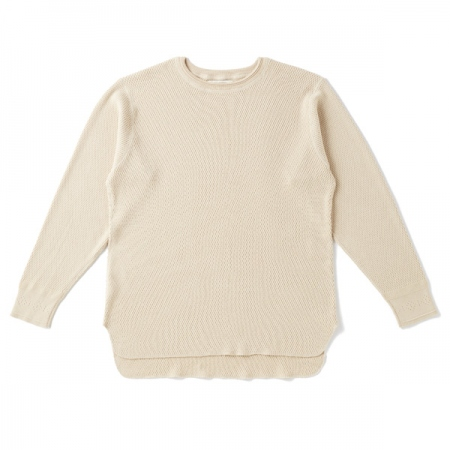 HARD TWIST HONEYCOMB WUFFLE CREW-NECK