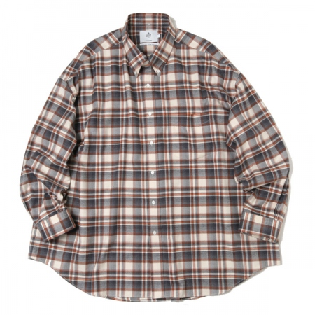 THOMAS MASON  for GP Check Oversised B.D Shirt