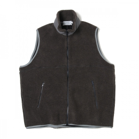 Wool Boa Zip-Up Vest