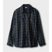 LIGHT MOLESKIN OPEN COLLAR SHIRT