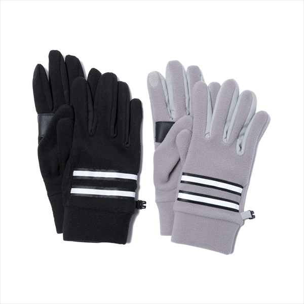 Fleece Gloves with Cow Leather
