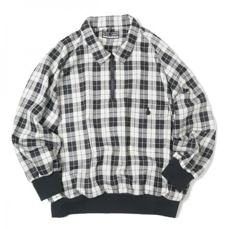 ZIP POLO(BLACK CHECK)