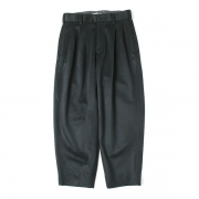 DOUBLE PLEATED TROUSERS SUPER 120s BEAVER