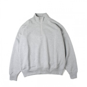 BACK WOOL HALF ZIP P/O