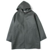 HEAVY MELTON HOODED COAT