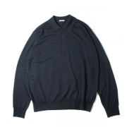 WOOL CASHMERE HIGH GAUGE KNIT POLO