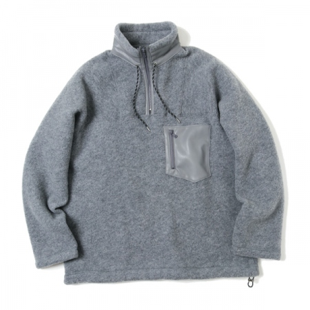 Wool Fleece Half Zip P/O