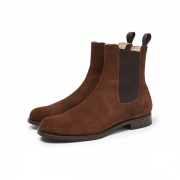 CLERK SIDE GORE BOOTS COW SUEDE