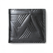 Flower Embossed Leather Bifold