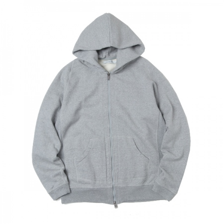 DWELLER FULL ZIP HOODY COTTON SWEAT
