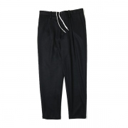 WOOL JERSEY TAPERED SLACKS