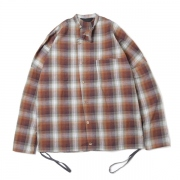 DOLMAN SLANT SHIRT(SHADOW CHECK)