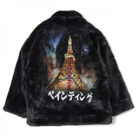 HAND-PAINTED FUR JACKET