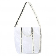 sail cloth logo tape shoulder bag(WHITE)