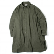 REGULAR COLLAR SHIRTS LONG C/W TWILL