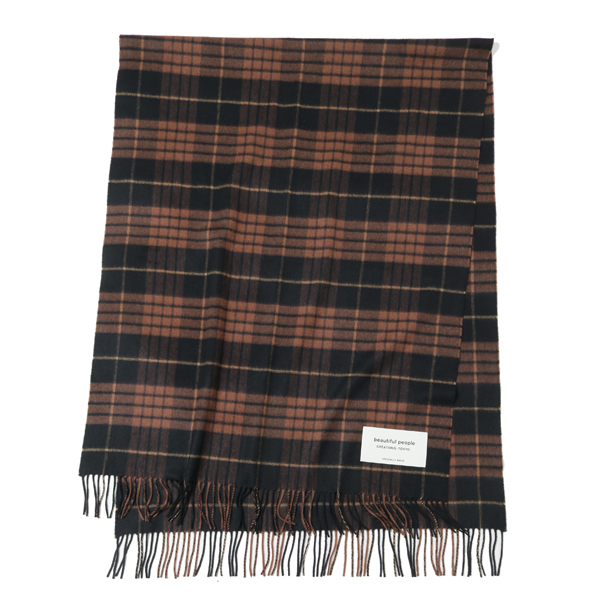 johnstons×bp cashmere stole(BROWN)