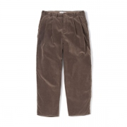 Cord Wide Tuck Pants