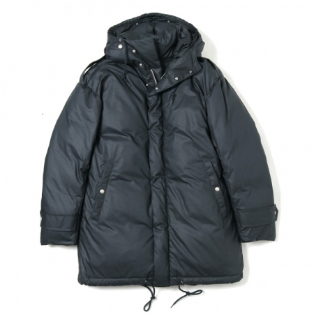 cotton ripstop layered down coat