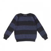 SPEC DYED YARN BOATNECK SWEATER