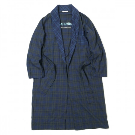 lightflannel check shirt gown
