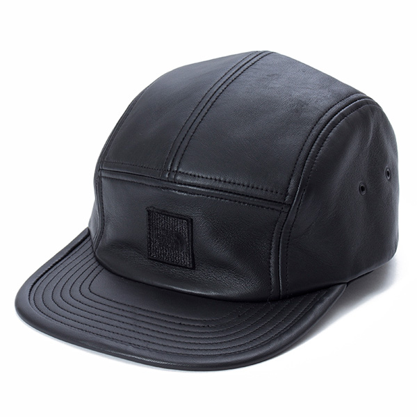 Leather Field Cap / BLACK
