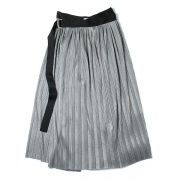 metalic jersey pleats wrap skirt