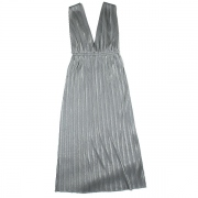 metalic jersey pleats dress
