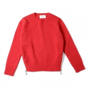 british wool side zipper pullover