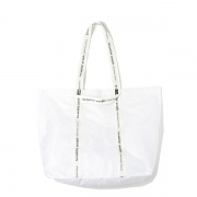 sail cloth logo tape tote