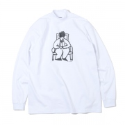 L/S Tee BASQUIAT(MOCK NECK WHITE)