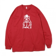 L/S Tee BASQUIAT(CREW NECK RED)