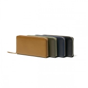 Cow Leather Long Zip Wallet