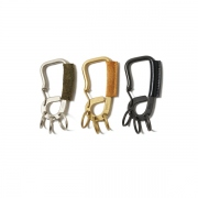 Brass Carabiner with Cow Leather
