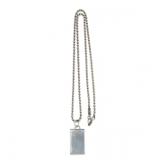 Silver 925 Plate Necklace Narrow