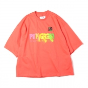 GRADATION NEON EMBROIDERY T-SHIRT