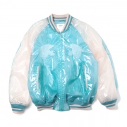 TRANSPARENT EMBROIDERY SOUVENIR JACKET