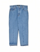 TWIST TAPPERD DENIM PANTS