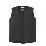 Collarless Quilted Inner Vest