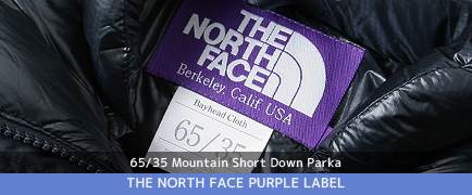 THE NORTH FACE PURPLE LABEL 65/35 Mountain Short Down Parka (ザノースフェイス パープルレーベル) 65/35 Mountain Short Down Parka 正規取扱